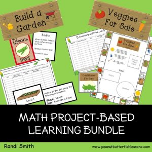 cover for Build A Garden and Veggies for Sale Math Bundle