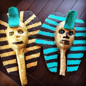 Paper Mache Egyptian Mummy Masks
