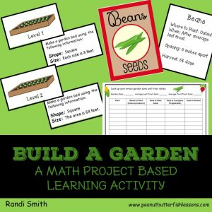 Cover of the Build a Garen Math Project Based Learning Activity