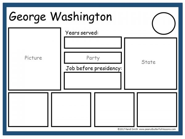 George Washington Sorting Mat