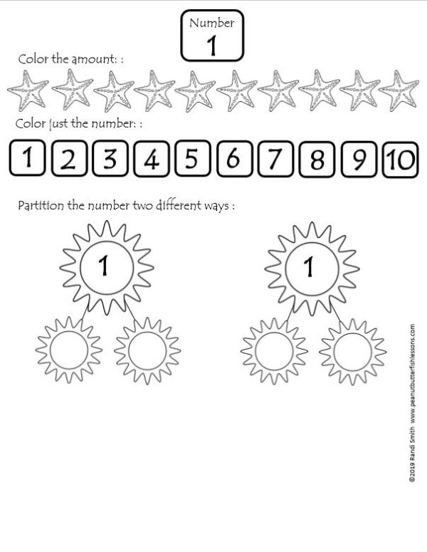 Number of the day worksheet with various number sense activities.