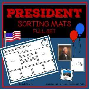 US President Sorting Mats: Full Set of 46 Presidents
