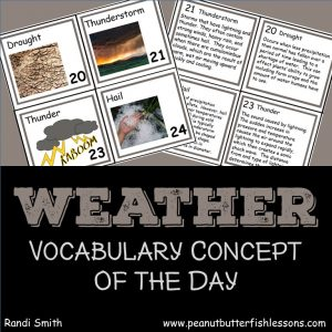 Cover for the product Weather Vocabulary Concept of the Day Cards