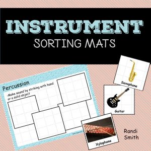 Cover of the product, Musical Instrument Sorting Mats