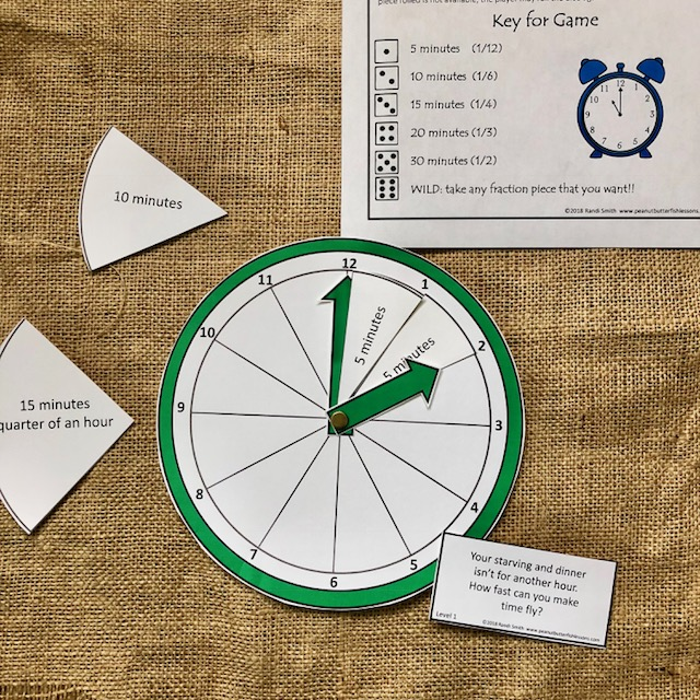 How Fast Can Time Fly?: Time Telling and Fraction Game