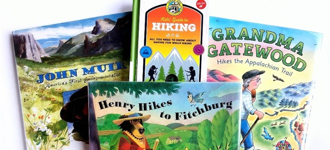 Cover for blog post 13 books to get your children excited about hiking