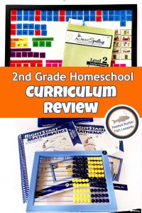 Pinnable cover for 2nd grade homeschool curriculum review post.