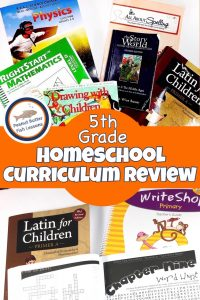 Cover for blog post 5th Grade Homeschool Curriculum Review