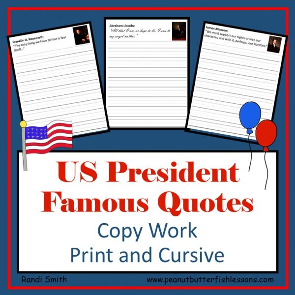 Cover for Product US President Famous Quotes