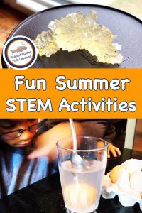 Pinnable cover for blog post Fun Summer STEM Activities
