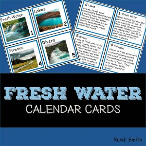 Cover for Fresh Water Vocabulary Concept of the Day Cards