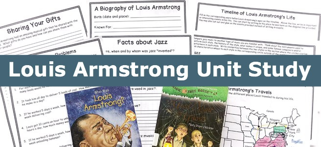 Cover of Louis Armstrong FREE Unit Study