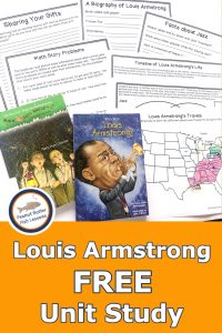 Pinnable Cover of Louis Armstrong FREE Unit Study