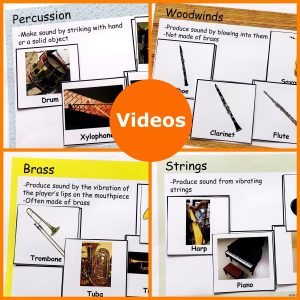 Link to lead to videos of different musical instruments.