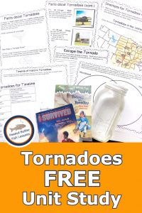Pinnable Cover for blog post Tornadoes FREE Unit Study