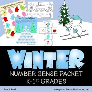 Winter Number Sense Packet for Kindergarten and 1st Grade