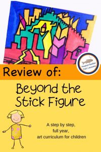 Cover for the Review of Beyond the Stick Figure with a drawing and a graphic