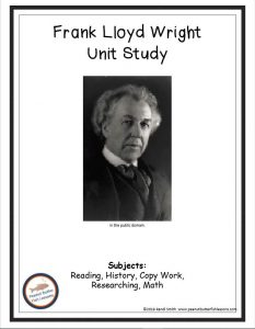 Cover of Frank Lloyd Wright Printable Unit Study with this picture.