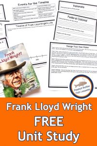 Pinnable cover for Frank Lloyd Wright FREE Unit Study