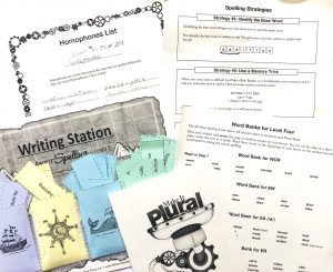 Learning activities that accompany spelling program.