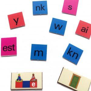 Spelling tiles: vowel, vowel team, consonant, consonant team, etc.