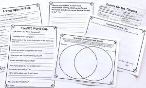 Printable notebooking pages, quote, page, timeline, and Venn diagram.
