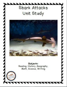 Cover of printable part of Shark Attacks FREE Unit Study