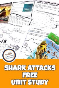 Pinnable Cover for Shark Attacks FREE Unit Study