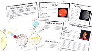 Printable notebooking pages and following direction activity.