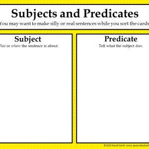 Grammar Sorting Mats