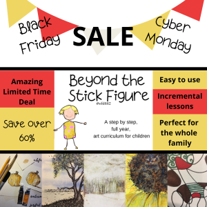 Sales graphic for Beyond the Stick Figure Black Friday Cyber Monday Sale