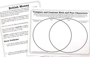 Printables to learn about British money and a Venn diagram.
