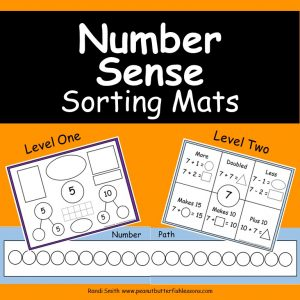 Cover for Number Sense Sorting Mats showing pictures of some of the mats.