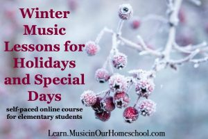 Product cover for Winter Music Lessons for Holidays and Special Days