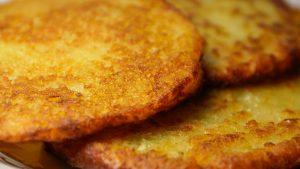 Close-up of potato pancakes