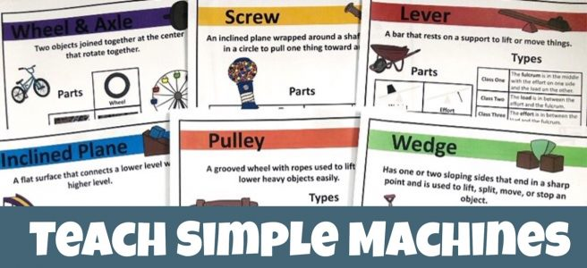 Cover for Teach Simple Machines to Your Children showing printable posters.