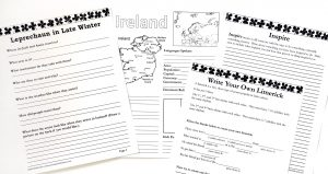Printable notebooking pages and writing prompts.