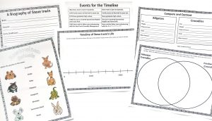 Printable pages from Steve Irwin FREE Unit Study