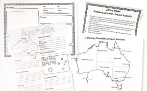 Printable pages from Steve Irwin FREE Unit Study.