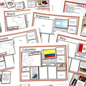 Countries of the World Sorting Mats: South America