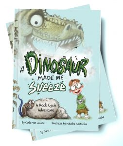 A Dinosaur Made Me Sneeze book cover.