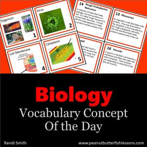 Biology Vocabulary Concept of the Day Cards GROWING BUNDLE