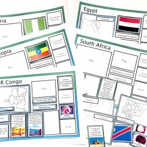 Countries of the World Sorting Mats Bundle