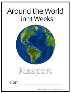 Cover of the Around the World in 11 Weeks Passport Packet