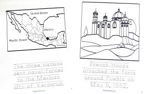 Printable pages from Cinco de Mayo Copywork in the Celebrate It Grab Bag.