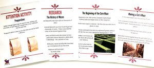 Printable pages from Corn Maze Unit Study in the Celebrate It Grab Bag.