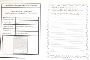 Printable pages from Declaration of Independence in the Celebrate It Grab Bag.