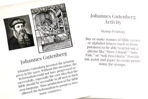 Printable pages from Reformation Unit Study in the Celebrate It Grab Bag.