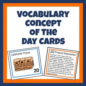 Vocabulary Concept of the Day Cards