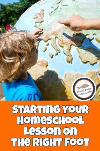 Pinnable cover image for post Starting Your Homeschool Lesson on the Right Foot